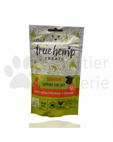 True Hemp Senior treats für Katzen 50g
